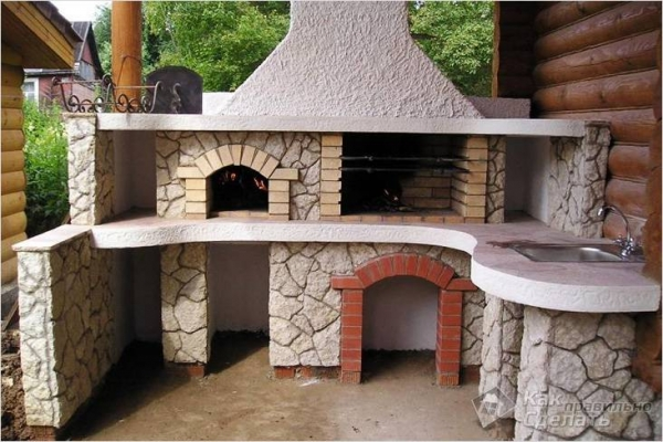 Каменный мангал своими руками — строительство мангала из камня (+фото)