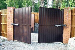 Как сделать ворота из профнастила — пошаговая инструкция (+фото, схема)
