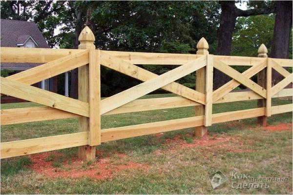 Как сделать деревянный забор — забора из дерева