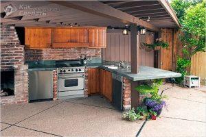 Как построить летнюю кухню своими руками — варианты обустройства летней кухни