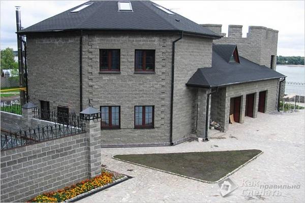 Дом из шлакоблока своими руками — строительство домов из шлакоблоков + фото