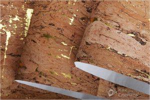 Как клеить пробковые обои на стену — клеим пробку