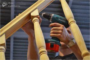 Как установить балясины на лестницу — установка балясин (+фото)