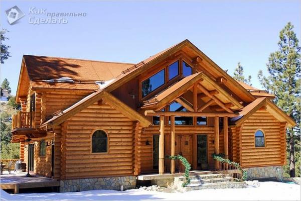 Дом из бревна своими руками — как построить деревянный дом