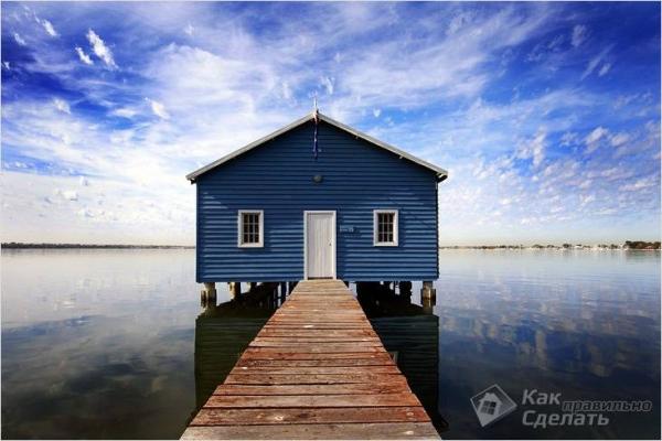 Как построить дом на воде — строительство дебаркадера