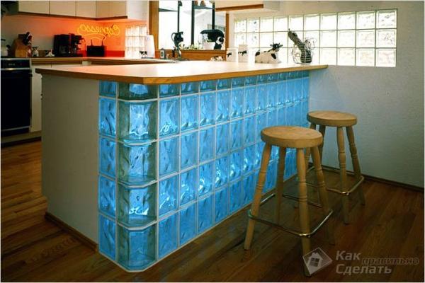 Как установить стеклянные блоки — инструкция по установке стен из стеклоблоков