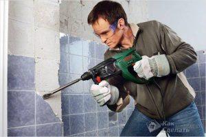 Как снять плитку со стены — правила демонтажа плитки