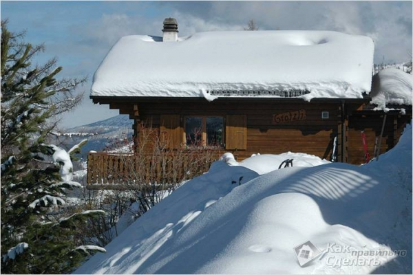 Как убрать снег с крыши своими руками — способы уборки снега