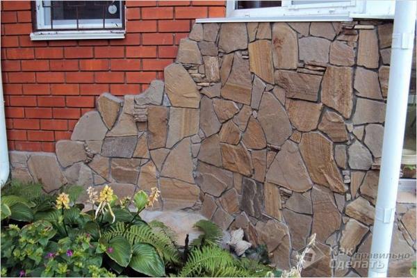 Облицовка фасада натуральным камнем — технология облицовки