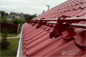 Как установить снегозадержатели — монтаж снегозадержателей на крышу
