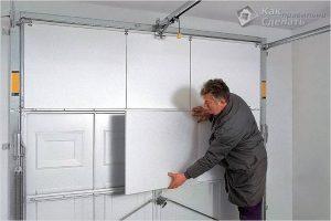 Как утеплить гаражные ворота своими руками +фото